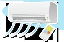 現在の省エネ型エアコンは10年前のエアコンに比べ、消費電力は約半分といわれております。省エネの必要性が高くなってきている今日この頃古くて少し調子が良くないエアコンの更新をしてみてはいかがでしょうか。