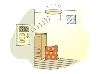 暗くなったり、人が通った際にセンサーにて感知すると照明が点灯するようにセットできるセンサーライトです。外部に設置すれば不審者への威嚇と監視性を高め、玄関や勝手口・カーポート・庭など場所によって照射時間・方向調整も可能になっています。